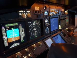 737 Simulator Flight Deck