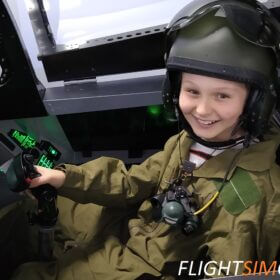 Fighter jet happy young pilot